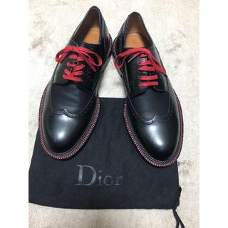 ディオールオム(DIOR HOMME)の【超希少品】Dior homme 13ss 赤ステッチ ウイングチップシューズ(ドレス/ビジネス)