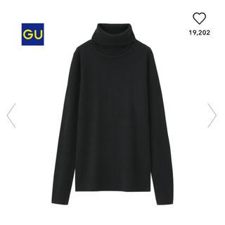 GU - GU リブタートルセーター Mサイズ ブラック