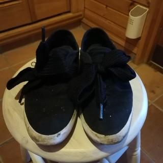 アディダス(adidas)のアディダス リレースロー ブラック 23cm リボンスニーカー(スニーカー)