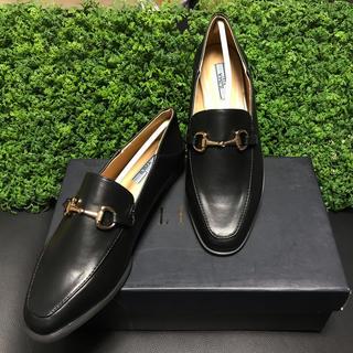 イーボル(EVOL)の今季新作完売STORY掲載ILIMAスクエアビットローファー 黒 23cm(ローファー/革靴)