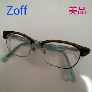ゾフ(Zoff)のZoff メガネ 水色レース(サングラス/メガネ)