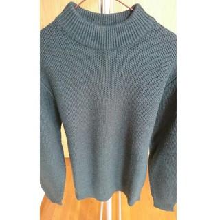 UNIQLO - ユニクロ ミドルゲージモックネックセーター ダークグリーン Mサイズ