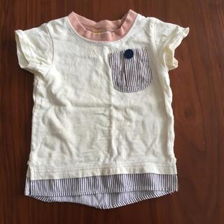 エフオーキッズ(F.O.KIDS)の男女兼用デザイン Tシャツ 半袖トップス 80(Tシャツ)