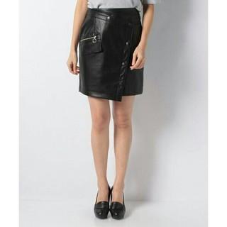 セシルマクビー(CECIL McBEE)のセシルマクビー♢合皮ラップスカート(ミニスカート)