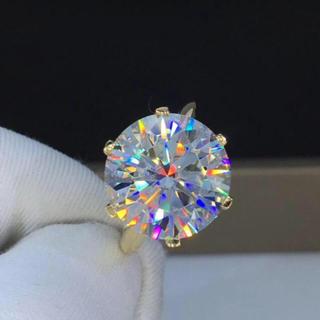 【贅沢10ct】輝く モアサナイト ダイヤモンド リング(リング(指輪))