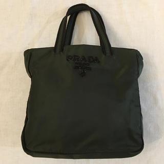 PRADA - プラダ  ビーズロゴ入り バッグ 美品