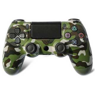 PS4 ワイヤレスコントローラー カモフラージュグリーン 緑迷彩色 緑色