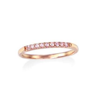 ジュエリーツツミ(JEWELRY TSUTSUMI)のK10ピンク ゴールドピンクサファイアリング7号(リング(指輪))
