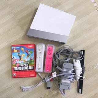 Wii - New スーパーマリオブラザーズ Wii 本体 リモコン セット