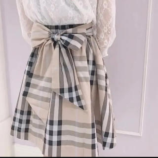 evelyn - evelyn ビックリボンチェックスカート ♡