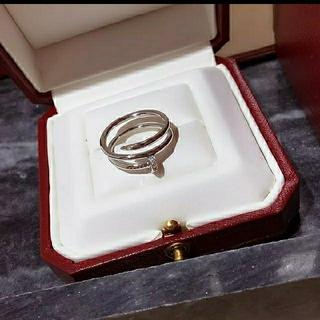 【在庫一点のみ】アンクル風リング ホワイトゴールドカラー (リング(指輪))