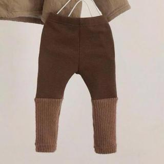 プティマイン(petit main)の韓国子供服 レッグウォーマー付きレギンス 80(靴下/タイツ)