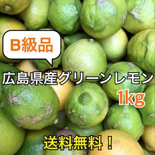 B級品レモン 化学農薬不使用 大崎上島産 広島 瀬戸内 グリーンレモン 1kg(フルーツ)