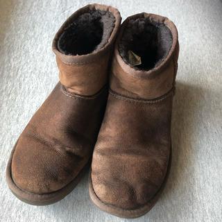 アグ(UGG)のUGGムートンブーツ 22.0cm ブラウン(ブーツ)