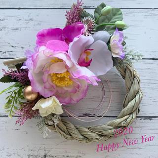 牡丹と蘭のしめ縄飾り♡No.142(その他)