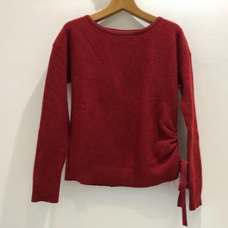 UNTITLED - UNTITLED アンタイトル ニット セーター ラメ混 ボルドー色 サイズ2