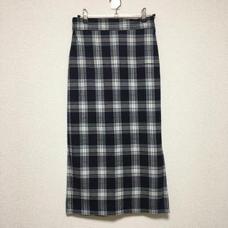 GU - 【美品】GU チェックナロースカート