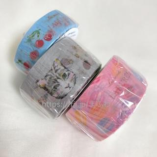 ラデュレ(LADUREE)の3種セット ラデュレ マスキングテープ チェリー ネコ マカロン マステ(テープ/マスキングテープ)