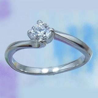 鑑定書付きPt950★天然ダイヤモンド・リング(リング(指輪))