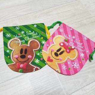 Disney - 東京ディズニーランド きんちゃく 巾着 クリスマス 2枚セット