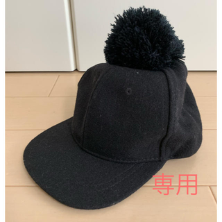 プティマイン(petit main)のU♡mama様専用 プティマイン ポンポン付き 帽子 キャップ 52cm(帽子)