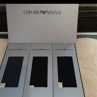 Emporio Armani - エンポリオ アルマーニ EMPORIO ARMANI ソックス3点セット靴下