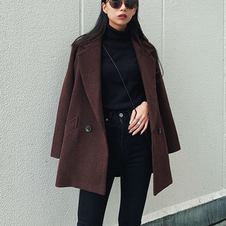 moussy - MIDDLE LENGTH CHECK コート サイズ1