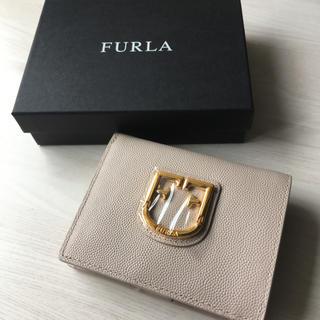 Furla - 新品 フルラ ベルヴェデーレ 折り財布  ベージュ