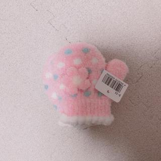 花 手袋 (ピンク)