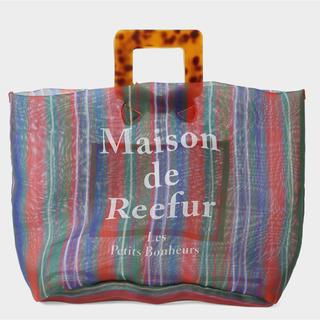 メゾンドリーファー(Maison de Reefur)の完売 maison de reefur ストライプ メッシュ トート バッグ(トートバッグ)
