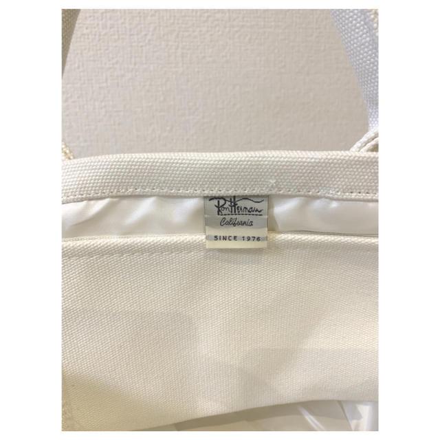 Ron Herman(ロンハーマン)のRon Herman☆ロンハーマン ミニトートバッグ ホワイト レディースのバッグ(トートバッグ)の商品写真