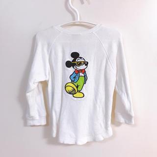 プティマイン(petit main)のプティマイン*サングラスミッキーマウス長袖カットソー*90cm(Tシャツ/カットソー)