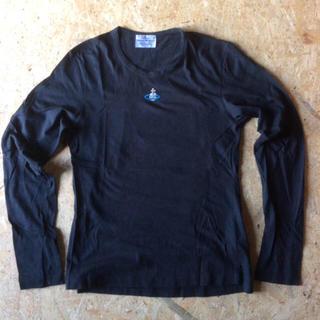 ヴィヴィアンウエストウッド(Vivienne Westwood)のヴィヴィアン ウエストウッド 黒刺繍Tシャツ(Tシャツ/カットソー(七分/長袖))