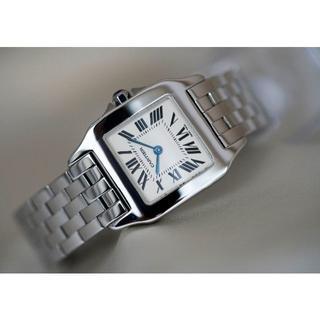 Cartier - 美品 カルティエ サントス ドゥモワゼル シルバー MM 2701 Cartie
