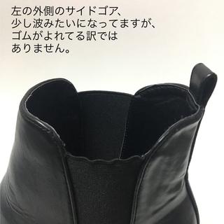 グローバルワーク(GLOBAL WORK)の*サイドゴアブーツ*黒・24~24.5cm*(ブーツ)