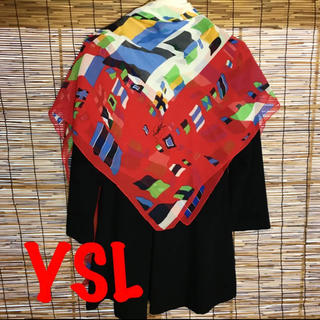 サンローラン(Saint Laurent)の新品同様 イヴサンローラン   シフォン系 スカーフ(バンダナ/スカーフ)