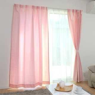 ☆カーテン 4枚組☆(ドレープ2枚・レース2枚) UVカット 洗える