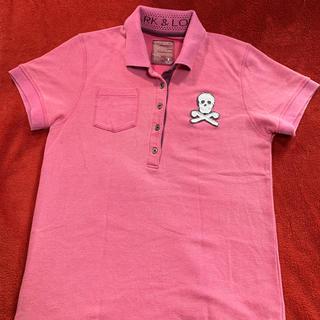 マークアンドロナ(MARK&LONA)のMARK&RONA. ポロシャツ  ピンク メンズS(ウエア)