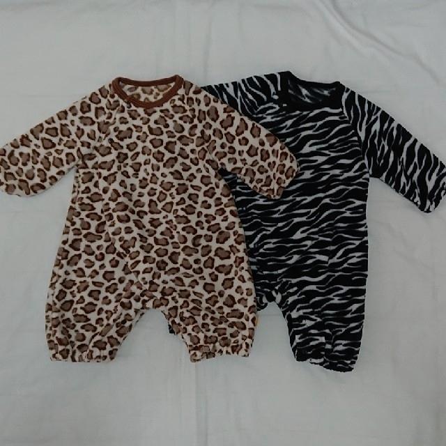 カバーオール ベスト付き 新生児 キッズ/ベビー/マタニティのベビー服(~85cm)(カバーオール)の商品写真