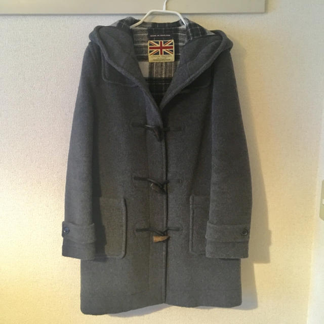 IENA SLOBE(イエナスローブ)のSlobe IENA ダッフルコート グレー  レディースのジャケット/アウター(ダッフルコート)の商品写真