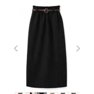 グレイル(GRL)のベルト付 ニットロングタイトスカート(ロングスカート)