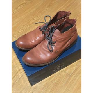 SHIPS - SHIPS レザーブーツ ブラウン 茶色