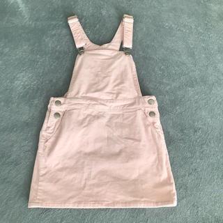 エイチアンドエム(H&M)の★H&M キッズ コーデュロイ サロペットスカート ピンク サイズ122(スカート)