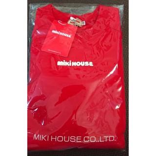 mikihouse - ミキハウス ロゴ トレーナー 110 新品タグ付き 赤 男女どちらでも