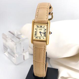 Cartier - 【OH済/仕上磨済】カルティエ タンク SM ゴールド レディース 腕時計