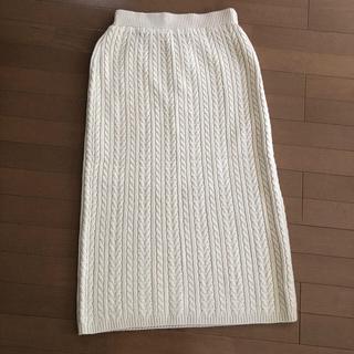 GU - gu人気ケーブルニットスカート