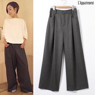 L'Appartement DEUXIEME CLASSE - 2016AW Lisiere Wool Wide Pants 定価38,880円