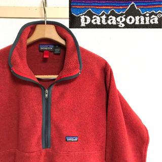 patagonia - 希少!90's パタゴニアpatagonia マースピアル ハーフジップフリース