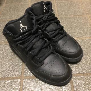 ナイキ(NIKE)のAir Jordan 1 Mid All Black 24.5cm(スニーカー)
