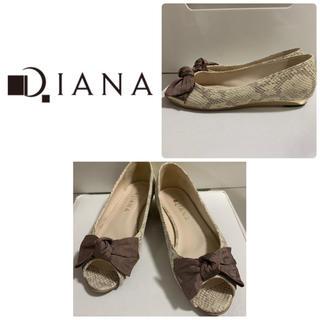 DIANA - ダイアナ パイソンレザー  リボンパンプス